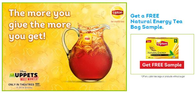 Free Sample Lipton Tea