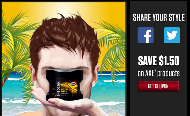 Save $1.50 on AXE Hair products at Walmart