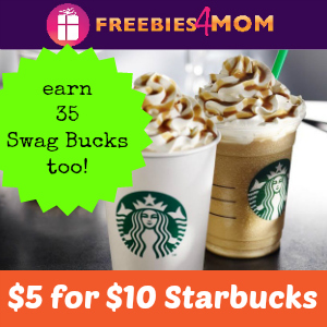 Treat Yourself to Starbucks for 50% off - $5 for $10 Gift Card