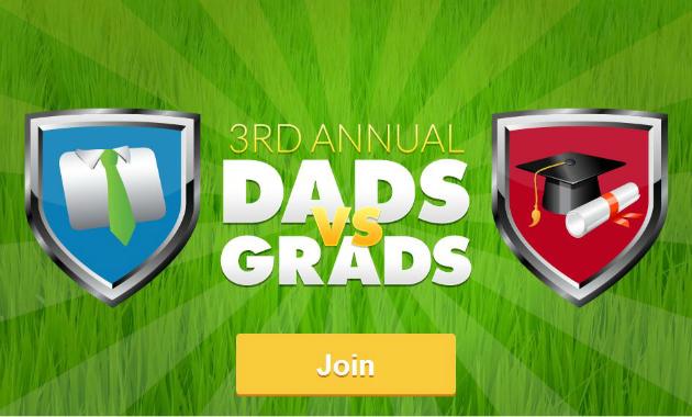 Join Dads vs Grads Challenge for BONUS Swagbucks