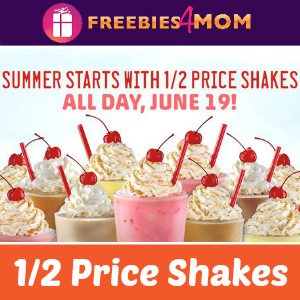 Sonic 1/2 Price Shakes All Day Thursday