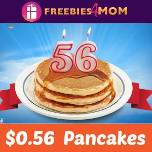 $0.56 Pancakes at IHOP Tomorrow