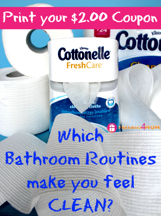 Clean Bathroom Routines with $2.00 Cottonelle® Coupon