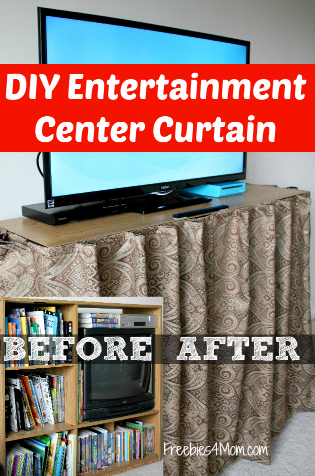 DIY Entertainment Center Curtain #HaierAmbassador #ad