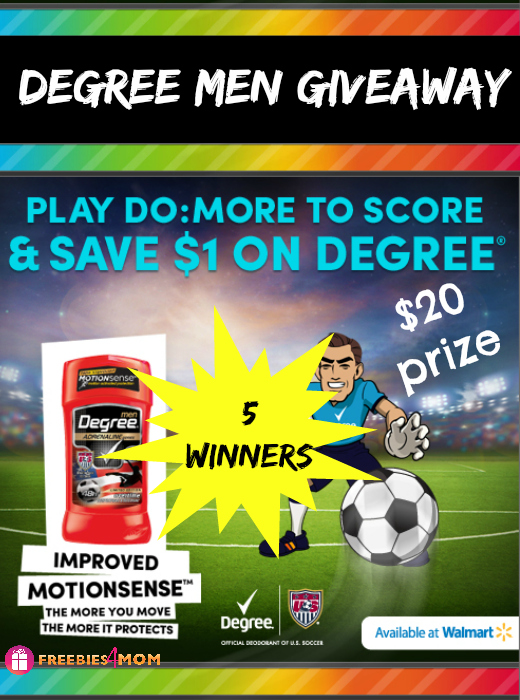 Degree Men Giveaway (5 winners)