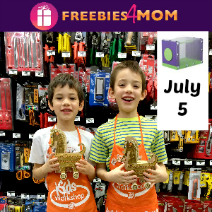 Free Kids Workshop Saturday at Home Depot