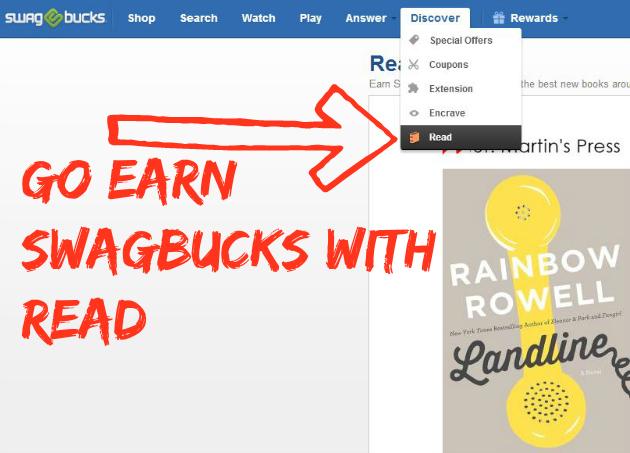 Earn More Swagbucks:  Read