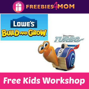 Free Turbo Lowe's Kids Clinic July 12