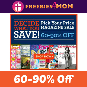 Magazine Deal: 60-90% Off