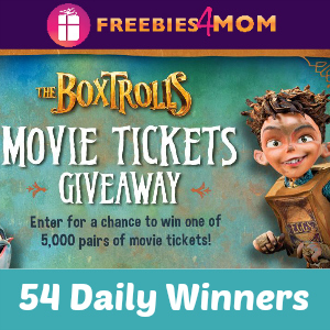 Sweeps The Boxtrolls Movie Ticket Giveaway
