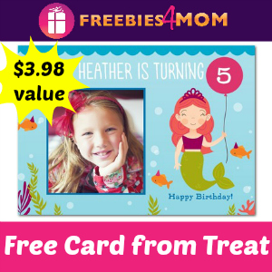 TOTALLY FREE Personalized Card from Treat