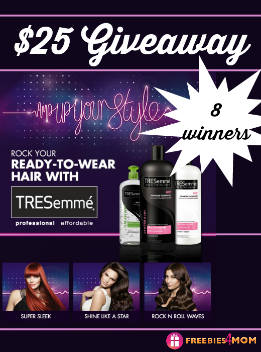 $25 Walmart Gift Card Giveaway from TRESemmé (8 winners)