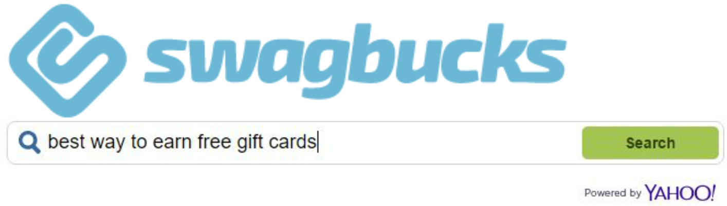 Search with Swagbucks, the best way to earn free gift cards