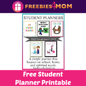 Free Printable Student Planners ($9.99 Value)