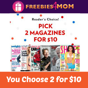 Pick 2 Magazines for $10