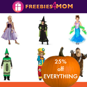 25% off Halloween Costumes at BuyCostumes.com