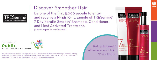 Free Sample TRESemmé 7 Day Keratin Smooth