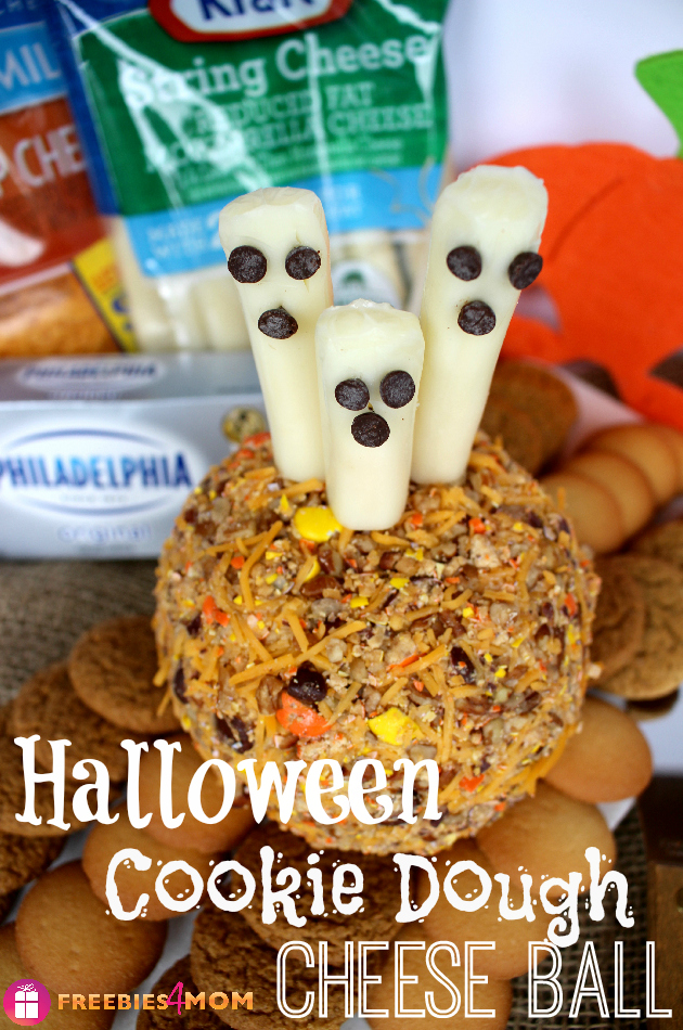 Halloween Cookie Dough Cheese Ball Recipe