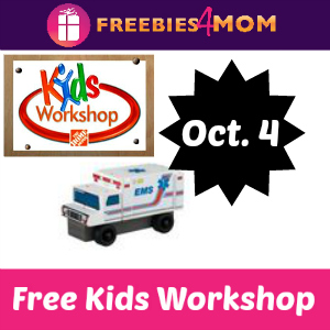 Free Kids Workshop Oct. 4 at Home Depot