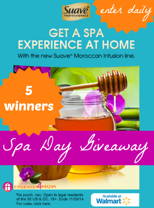 Suave® Spa Day Giveaway (5 winners)