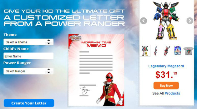 FREE Personalized Letter from Power Rangers #SuperMegaForce