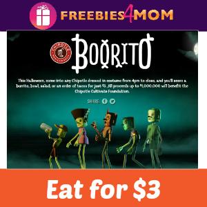 """$3 """"Booritos"""" at Chipotle Friday"""