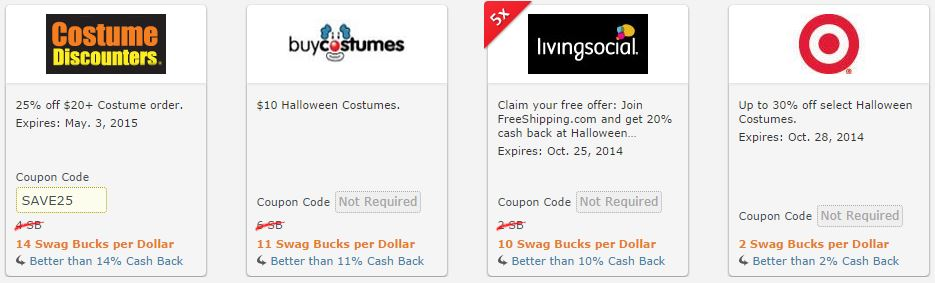 Halloween Costume Coupon Codes