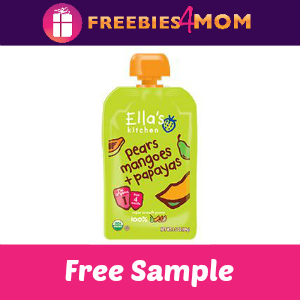 Free Sample Ella's Kitchen Pears Mangoes Papayas