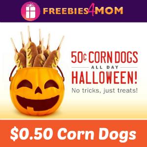 Sonic $0.50 Corn Dogs on Halloween
