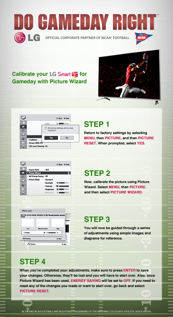 How To Calibrate Your LG Smart TV for Gameday with Picture Wizard