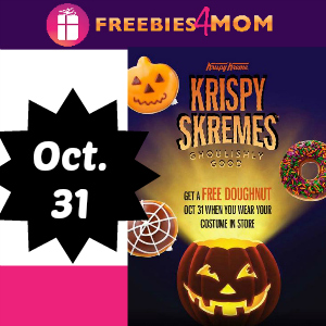 Free Doughnut at Krispy Kreme Oct. 31