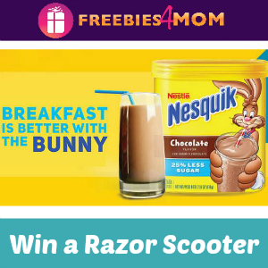 Sweeps Nesquik Breakfast (Win a Razor Scooter!)