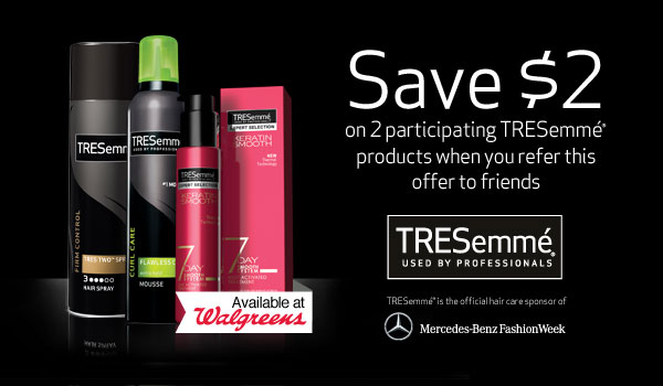 TRESemme Coupon for Walgreens