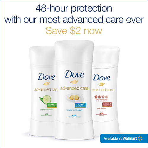 $2.00 Dove Advanced Care Deodorant Coupon