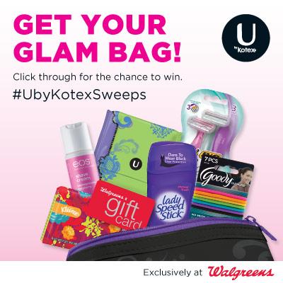 Win a U by Kotex Glam Bag (120 winners)