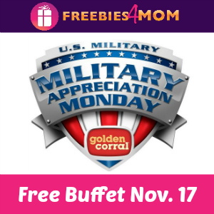 Free Dinner Buffet for Military at Golden Corral
