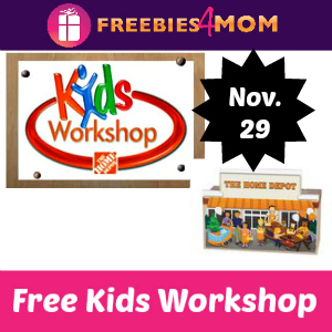 Free Kids Workshop Nov. 29 at Home Depot