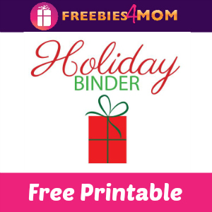 Free Printable: Holiday Binder