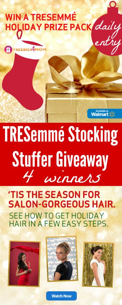 TRESemmé Stocking Stuffer Giveaway (4 winners)