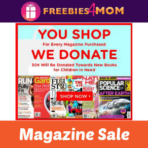 Magazine Sale: You Shop, They Donate!