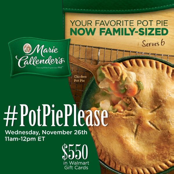 #PotPiePlease-Twitter-Party-11-26-11amEST,#TwitterParty,#ad,sweepstakes on Twitter