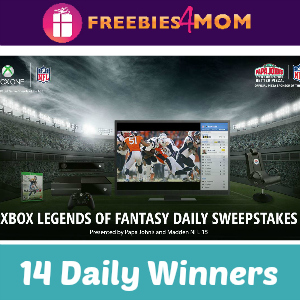 Sweeps Papa John's XBOX Legends of Fantasy