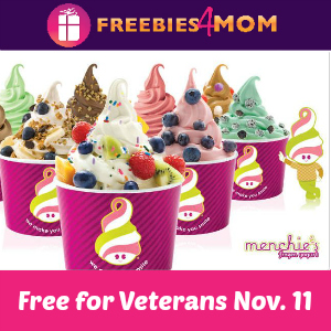 Free Frozen Yogurt at Menchie's for Veterans 11/11