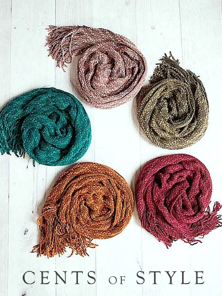 Cents of Style Knit Scarf with Glamour Magazine