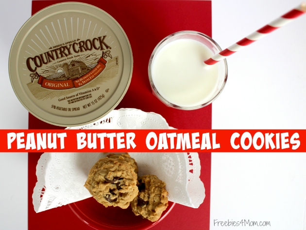 Peanut Butter Oatmeal Cookies Recipe