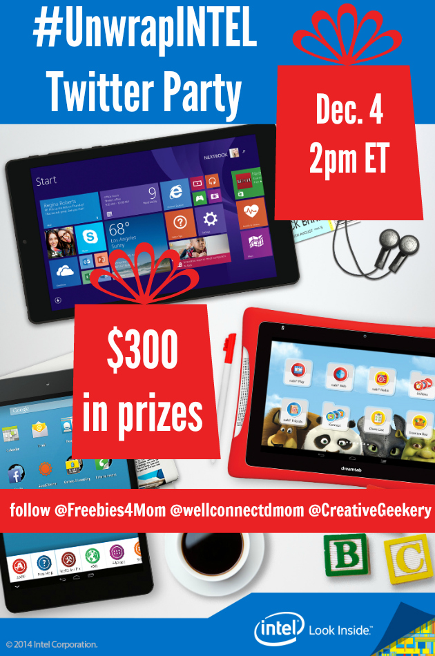 $300 in Prizes at #UnwrapINTEL Twitter Party Dec. 4 2pm ET