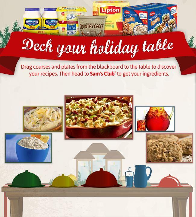 Sam's Club Holiday Table Recipes