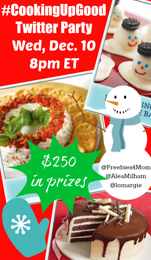 $250 in Prizes at #CookingUpGood Twitter Party Dec. 10 8pm ET