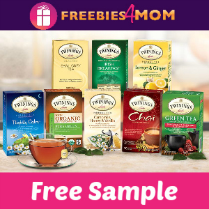 3 Free Samples of Twining's Tea