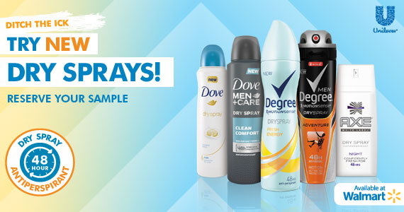 #TRYDRY Dry Sprays Antiperspirant at Walmart